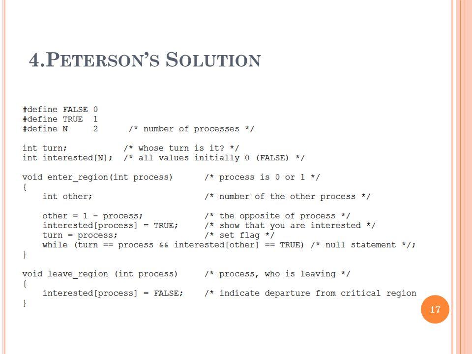 4.P ETERSON ' S S OLUTION 17