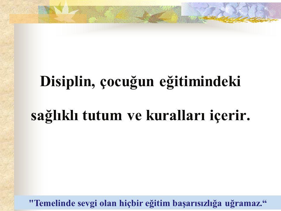 Disiplin, çoğu zaman baskı ve otoriteyi açıklayan anlamda kullanılmaktadır. Oysa disiplinin gerçek anlamı bu değildir.