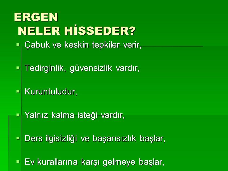 ERGEN NELER HİSSEDER.