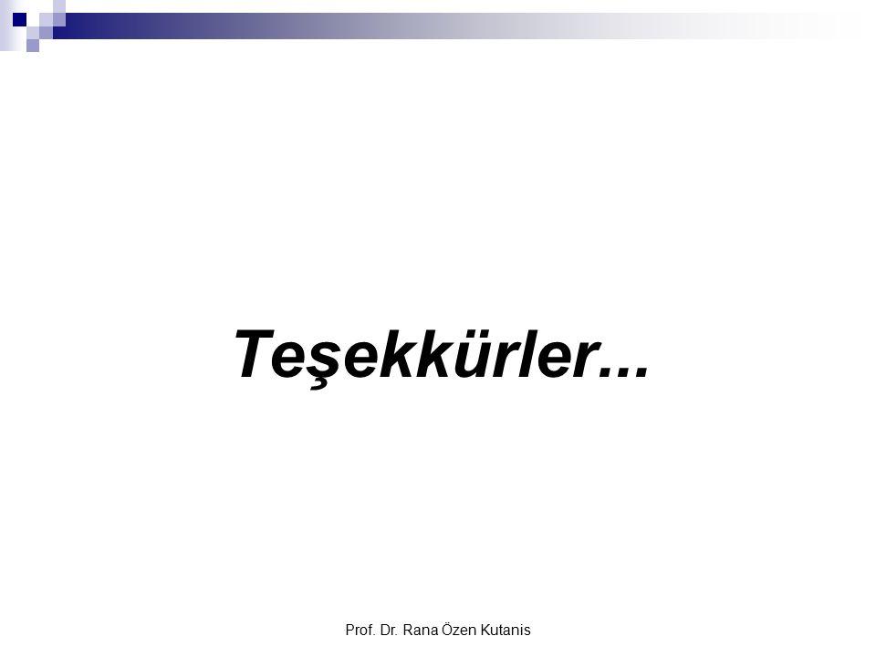 Prof. Dr. Rana Özen Kutanis Teşekkürler...