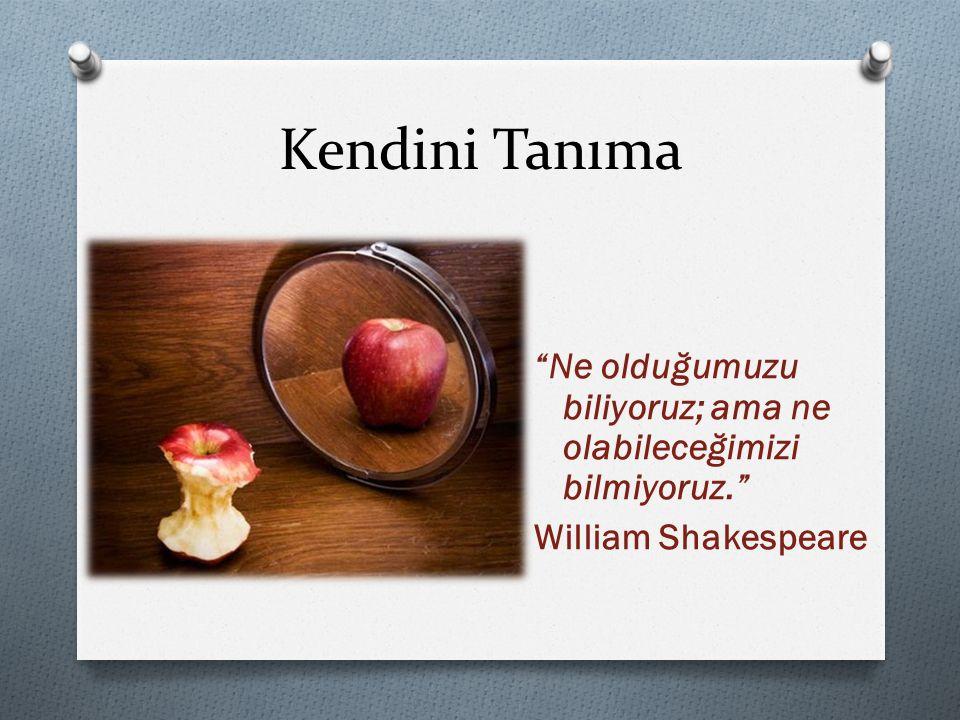 """Kendini Tanıma """"Ne olduğumuzu biliyoruz; ama ne olabileceğimizi bilmiyoruz."""" William Shakespeare"""