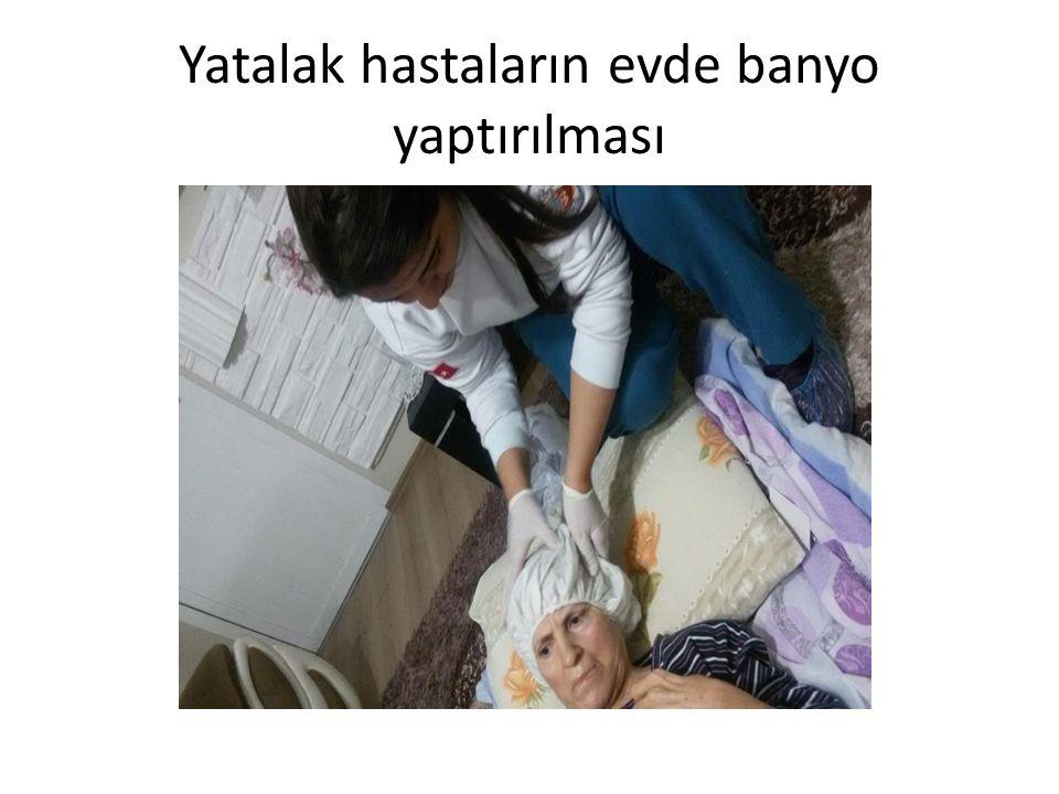 Hastanın yeni yatağına yatırılması