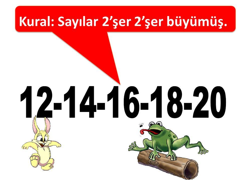 Kural: Birer birer geriye doğru ritmik sayma 13 -12- 11- 10-9-8-7 -6-5