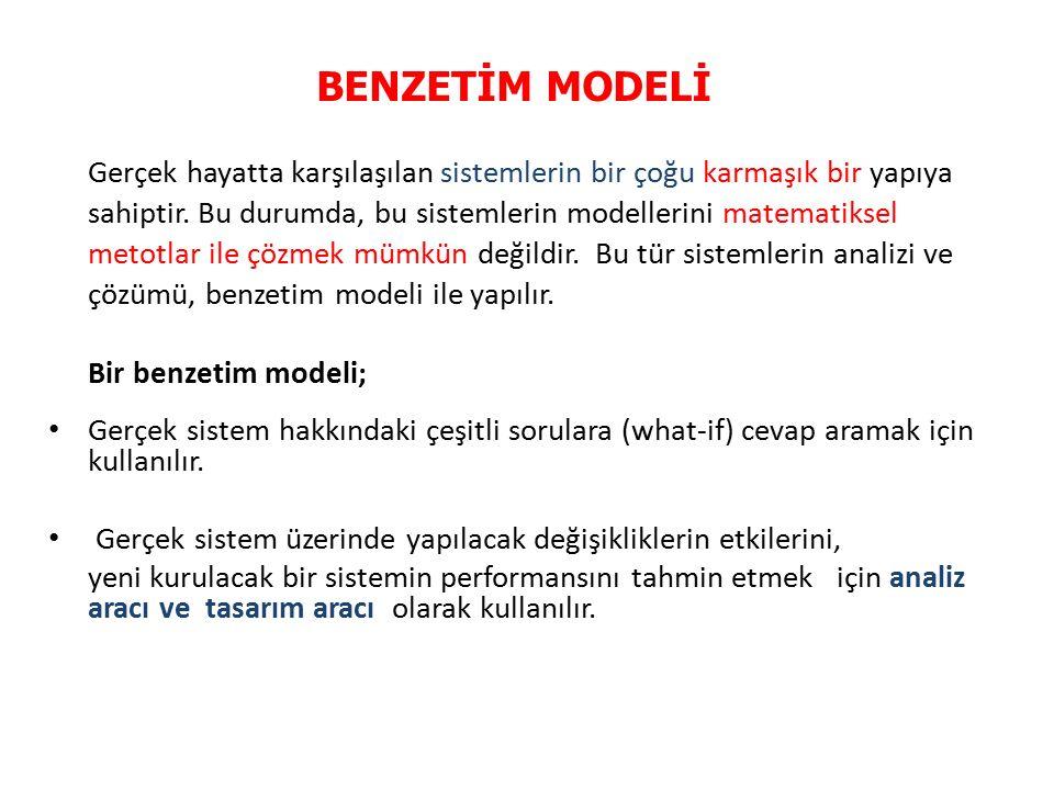 Yönetim sistemlerinde karşılaşılan çeşitli problemleri çözmeye yönelik kurulan Benzetim Modelleri, kesikli olay benzetim modelleridir.
