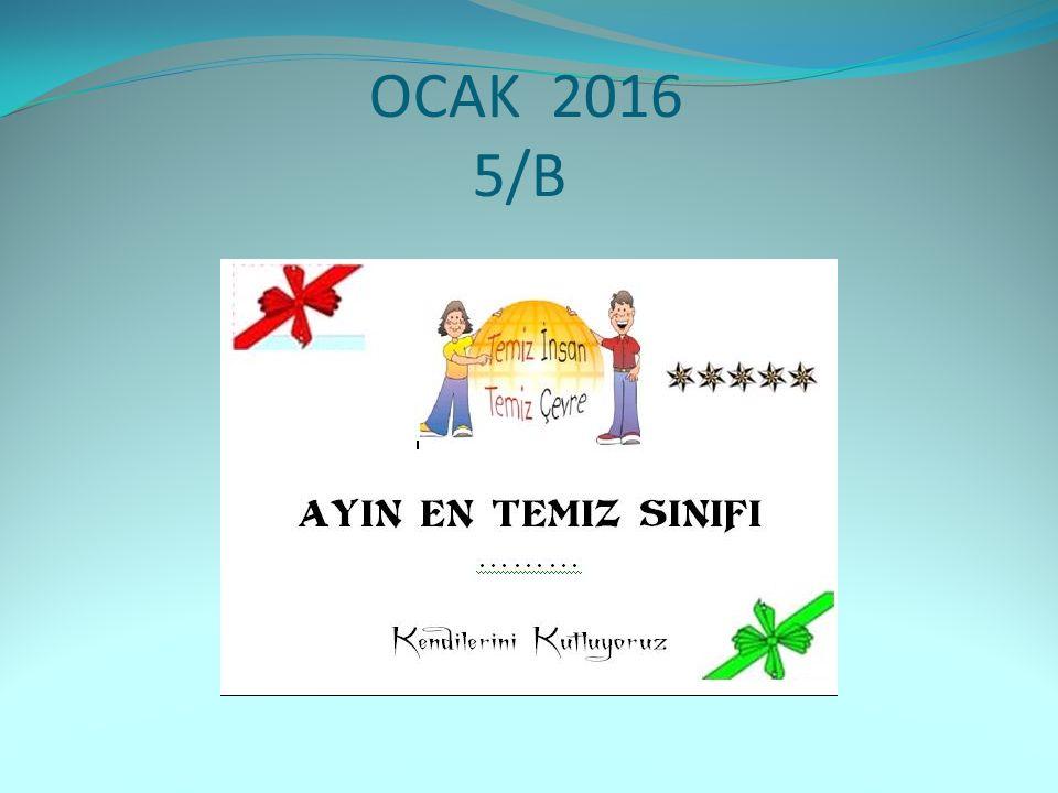 OCAK 2016 5/B