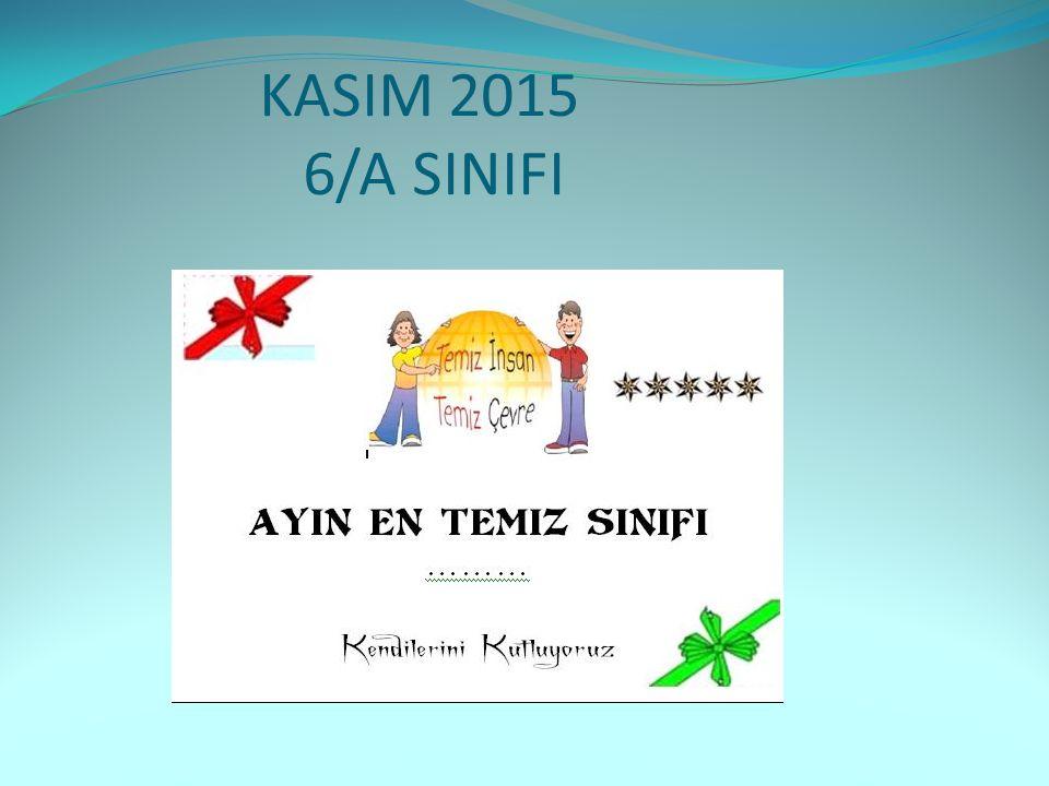 KASIM 2015 6/A SINIFI