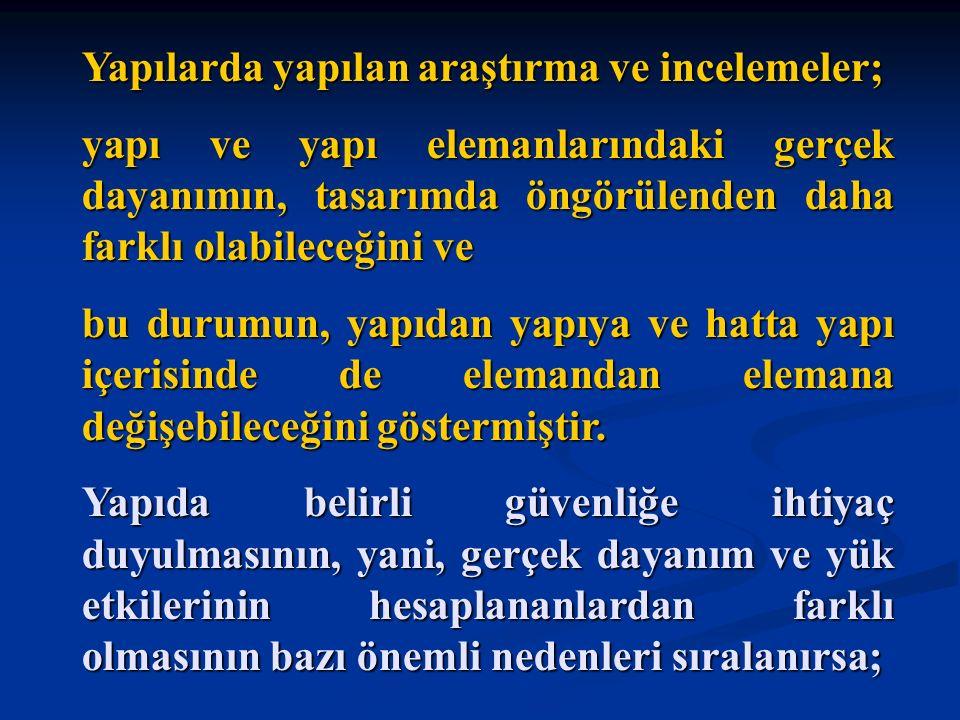 Türkiye, çağdaş bir betonarme standardına ve çağdaş bir deprem yönetmeliğine sahiptir.