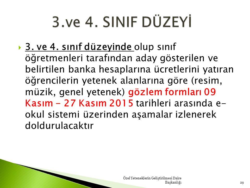  3. ve 4.