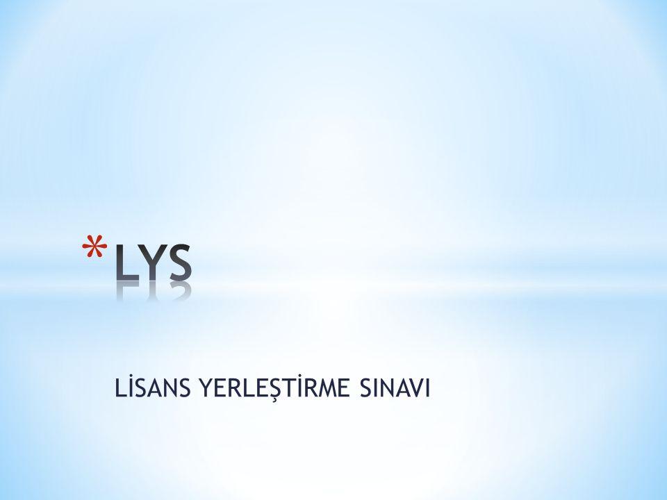 LİSANS YERLEŞTİRME SINAVI