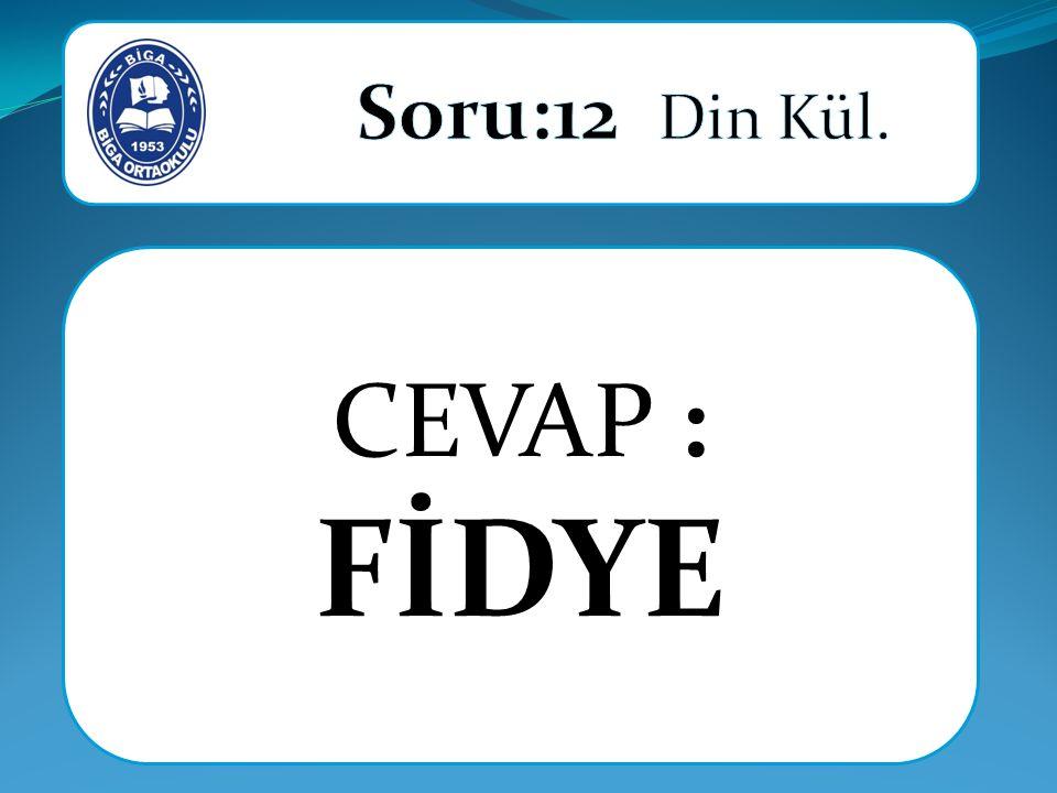 CEVAP : FİDYE
