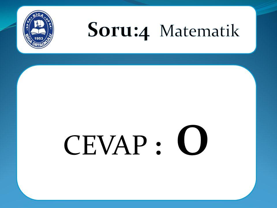 CEVAP : 0