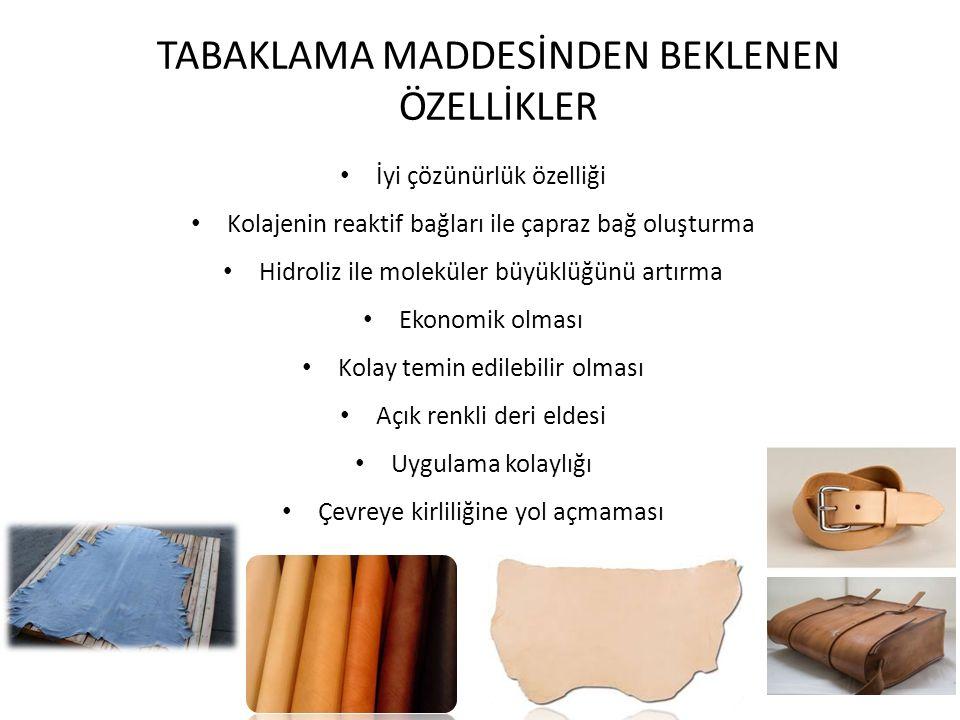 TABAKLAMA MADDELERİ Tabaklama işleminde kullanılan maddeler Tabaklama maddeleri olarak adlandırılır.