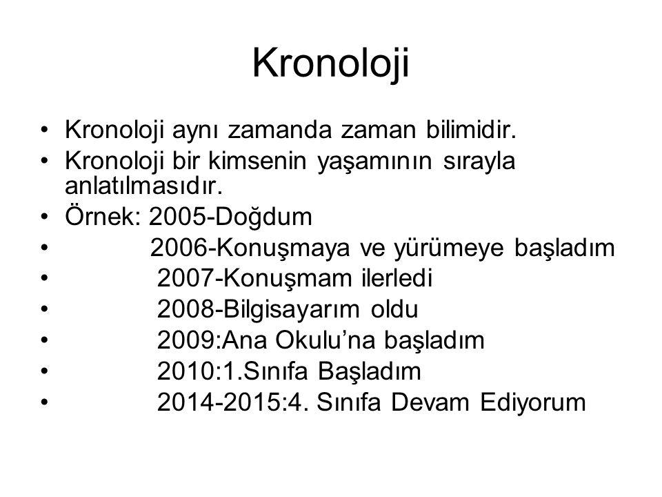 Kronoloji Kronoloji aynı zamanda zaman bilimidir.