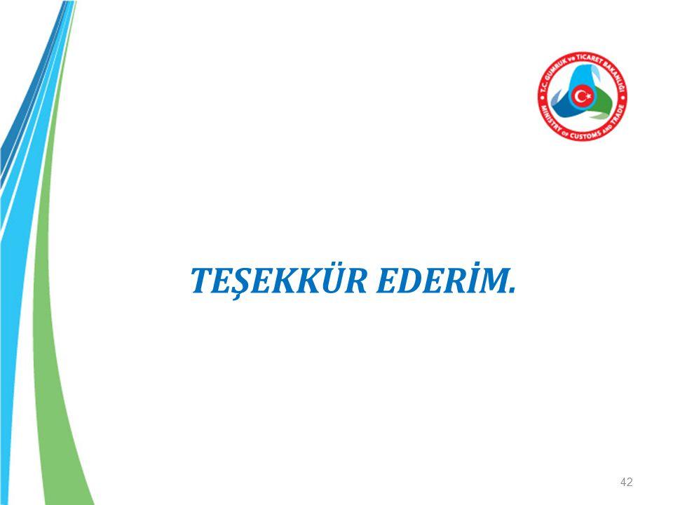 TEŞEKKÜR EDERİM. 42