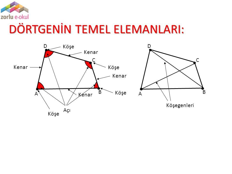 Teorem : Bir ABCD dörtgeninde A ve C açılarına ait açı ortayların belirttiği dar açı D ve B açılarının ölçüleri farkının yarısıdır.