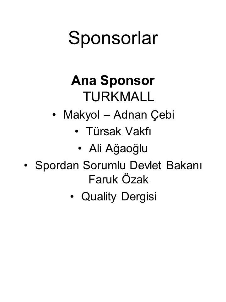 Sponsorlar Ana Sponsor TURKMALL Makyol – Adnan Çebi Türsak Vakfı Ali Ağaoğlu Spordan Sorumlu Devlet Bakanı Faruk Özak Quality Dergisi