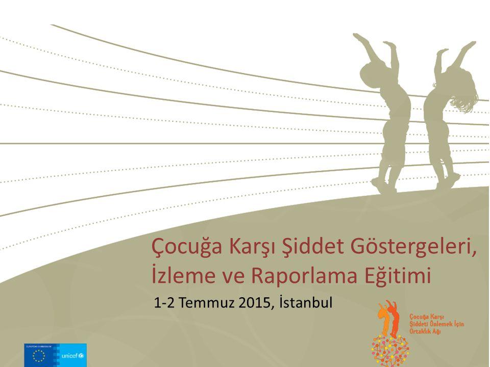 1-2 Temmuz 2015, İstanbul Çocuğa Karşı Şiddet Göstergeleri, İzleme ve Raporlama Eğitimi
