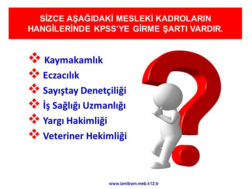  Belediyeler  İl özel idareleri  Üniversiteler  Kalkınma İdaresi Başkanlığı  Makine ve Kimya Endüstrisi Kurumu  Türkiye Taşkömürü Kurumu Gen Müd.