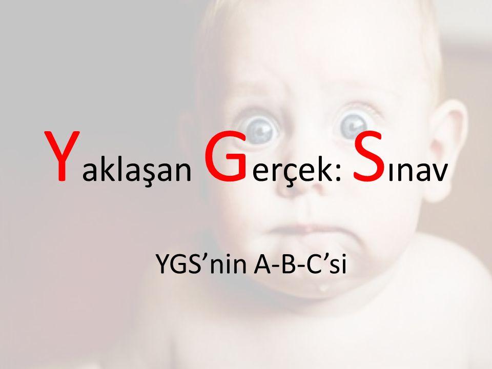 Y aklaşan G erçek: S ınav YGS'nin A-B-C'si