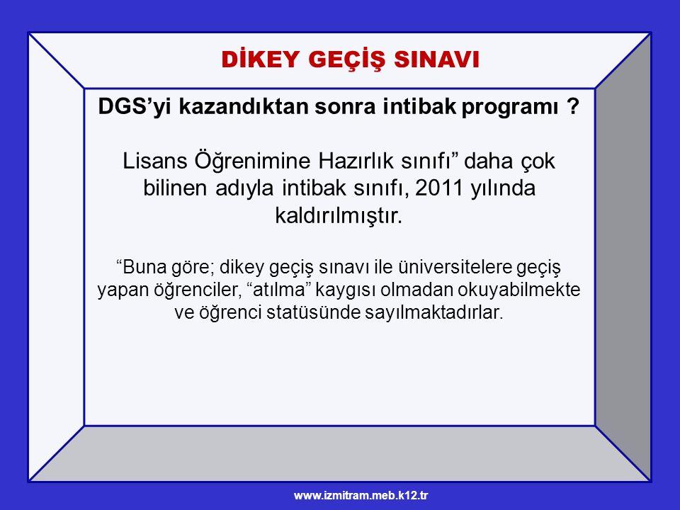 DGS'yi kazandıktan sonra intibak programı .