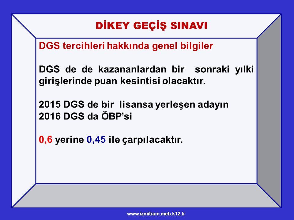 DGS tercihleri hakkında genel bilgiler DGS de de kazananlardan bir sonraki yılki girişlerinde puan kesintisi olacaktır.