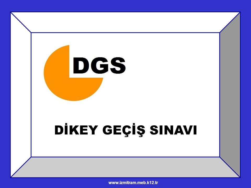 DGS İlk kez 2000 Yılında uygulandı ÖSYM tarafından yapılan, meslek yüksek okulları ve herhangi bir açık öğretim ön lisans bölümünden mezun olmuş ya da olabilecek durumundaki öğrencilerin katılabildiği, merkezi bir sınavdır.