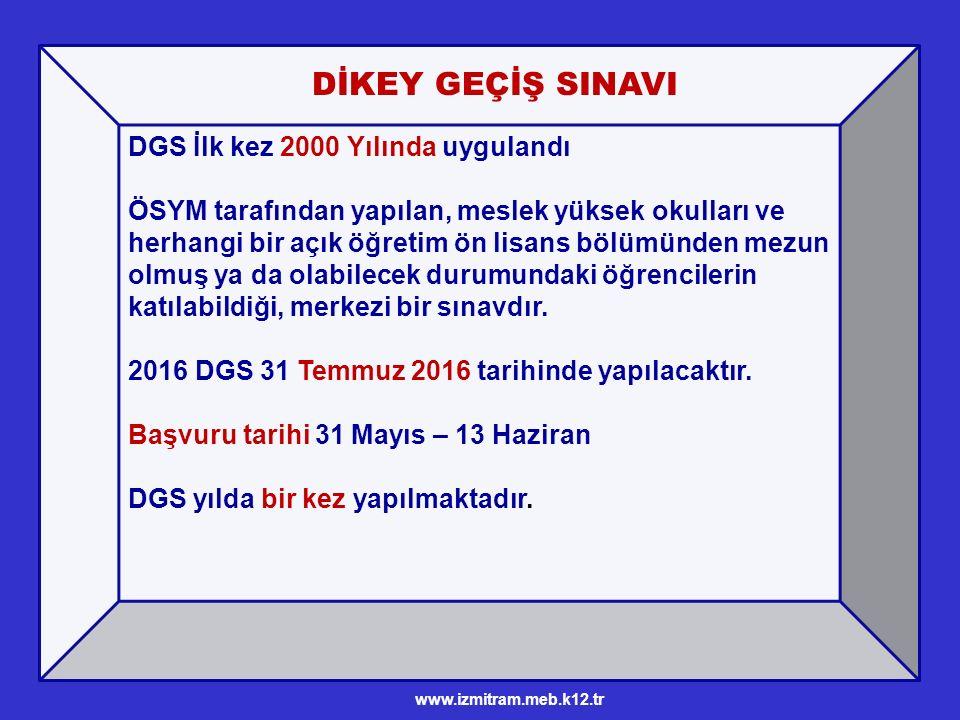 İçerik ve sınav süresi DGS'de; 60 Sayısal 60 Sözel soru sorulmaktadır.
