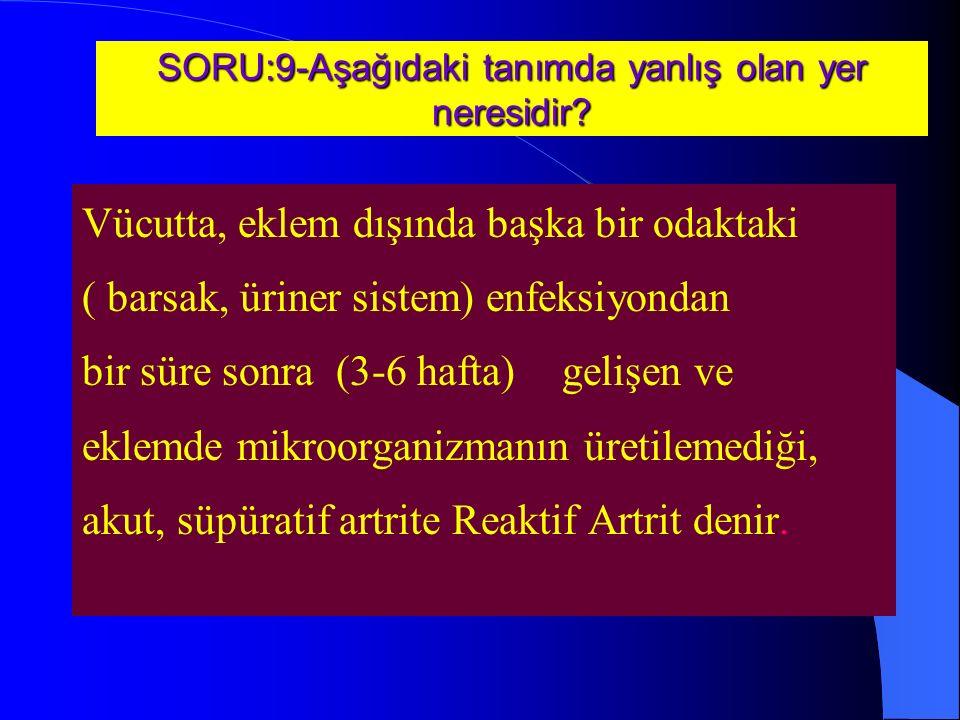 SORU:9-Aşağıdaki tanımda yanlış olan yer neresidir.