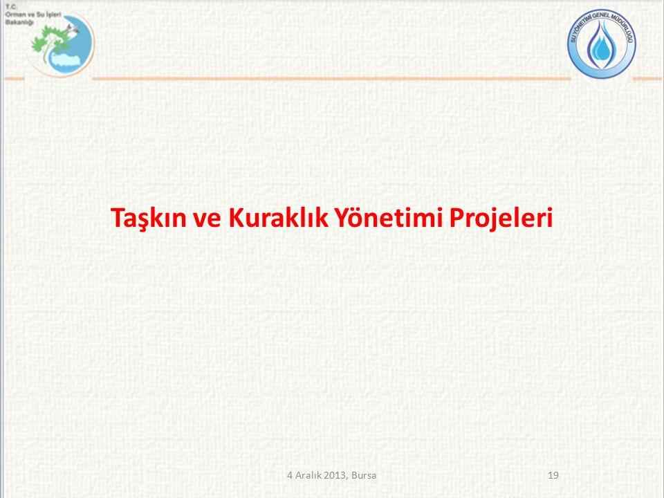 Taşkın ve Kuraklık Yönetimi Projeleri 194 Aralık 2013, Bursa