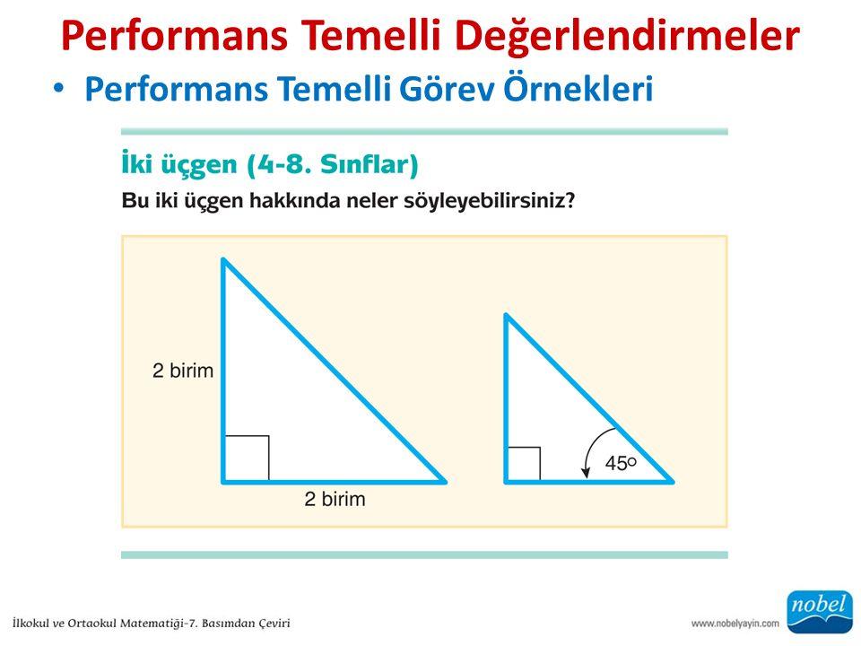 Performans Temelli Değerlendirmeler Performans Temelli Görev Örnekleri