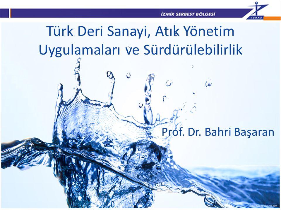 Türk Deri Sanayi, Atık Yönetim Uygulamaları ve Sürdürülebilirlik Prof. Dr. Bahri Başaran