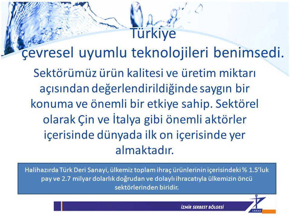 Türkiye çevresel uyumlu teknolojileri benimsedi.