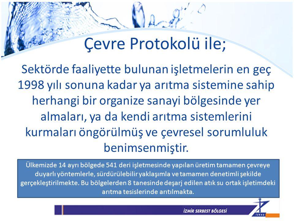 Çevre Protokolü ile; Sektörde faaliyette bulunan işletmelerin en geç 1998 yılı sonuna kadar ya arıtma sistemine sahip herhangi bir organize sanayi bölgesinde yer almaları, ya da kendi arıtma sistemlerini kurmaları öngörülmüş ve çevresel sorumluluk benimsenmiştir.