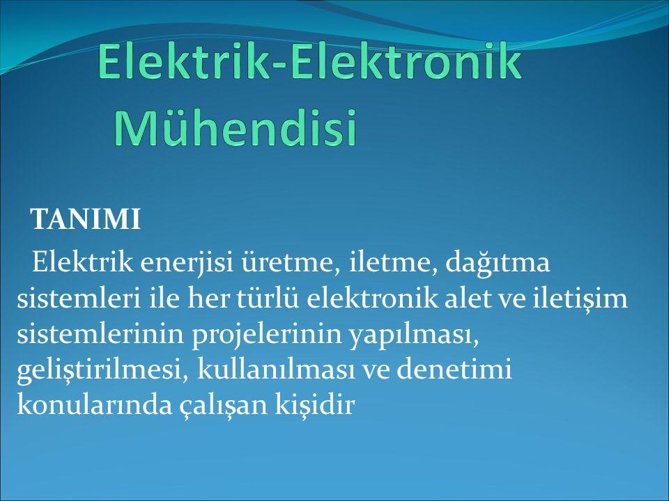 TANIMI Elektrik enerjisi üretme, iletme, dağıtma sistemleri ile her türlü elektronik alet ve iletişim sistemlerinin projelerinin yapılması, geliştiril