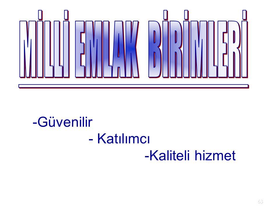 63 -Güvenilir - Katılımcı -Kaliteli hizmet