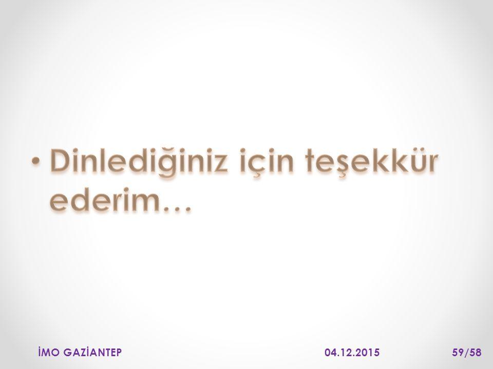 04.12.2015İMO GAZİANTEP 59/58