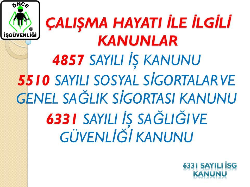 6331 SAYILI KANUNUN 20.