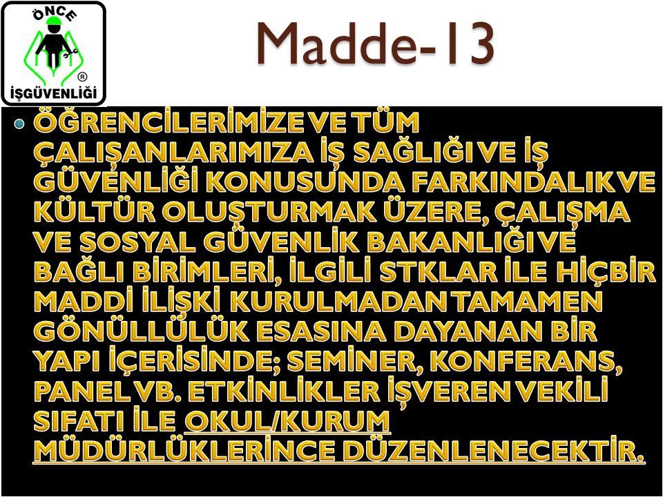 Madde-13