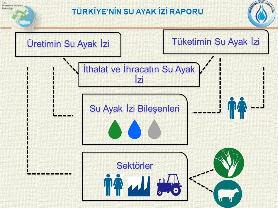 İthalat ve İhracatın Su Ayak İzi Su Ayak İzi Bileşenleri Sektörler Tüketimin Su Ayak İzi Üretimin Su Ayak İzi TÜRKİYE'NİN SU AYAK İZİ RAPORU