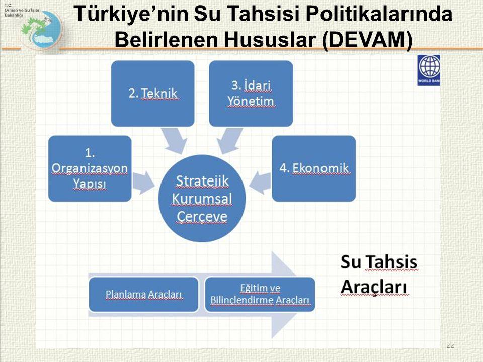 22 Türkiye'nin Su Tahsisi Politikalarında Belirlenen Hususlar (DEVAM)