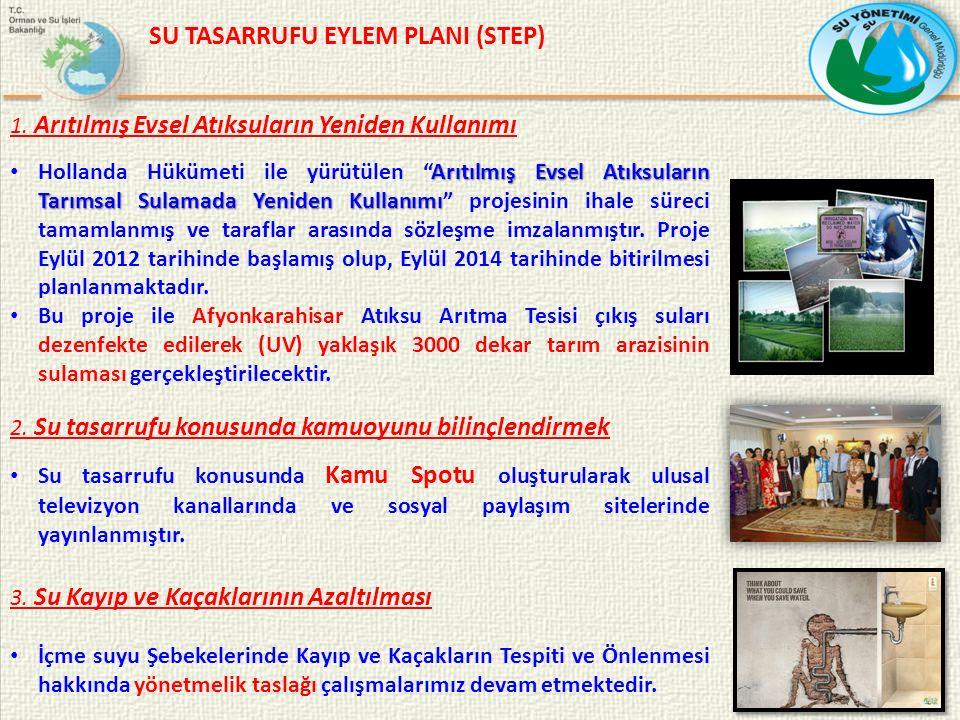 SU TASARRUFU EYLEM PLANI (STEP) 1.