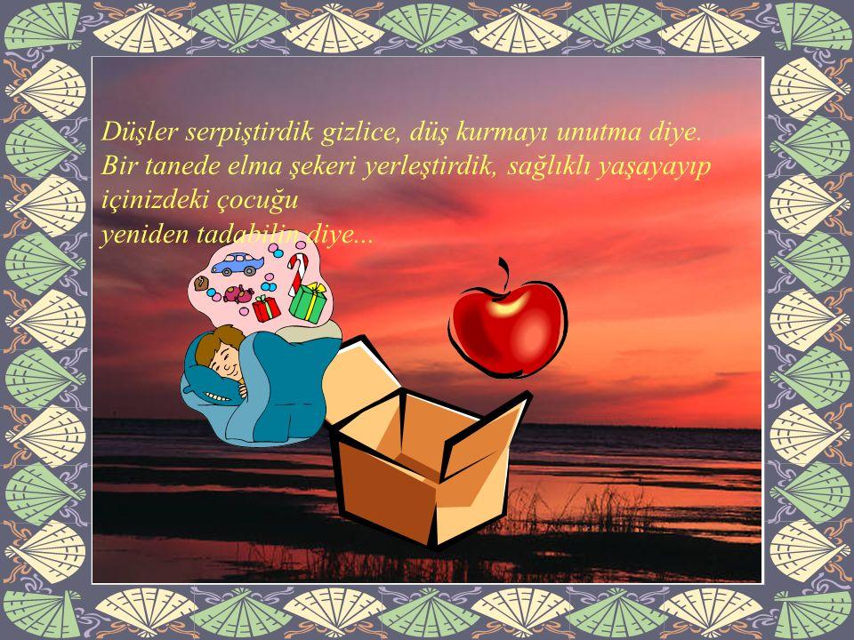 Kocaman bir fırça ve bin bir renk koyduk kutuya, bir cennet resmi yapıp içinde mutlu yaşayın diye...