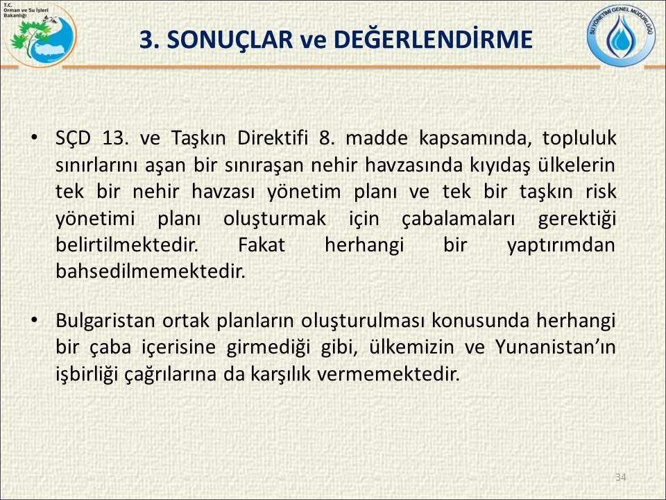 SÇD 13.ve Taşkın Direktifi 8.