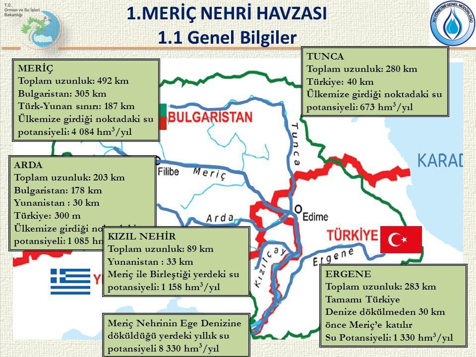 1963 yılında imzalanan Türk-Yunan Trakya Hududunun Mühim Kısmını Tayin eden Meriç Nehri Mecrasının Islahı Dolayısıyla Hudut Tahsisine İlişkin Protokol ile;  Karşılıklı bilgi verme,  Yapılacak inşaat çalışmaları nedeniyle arazi değişimi  Nehir yatağının tanzimi ve kıyıların aşınmasını önleme,  Masraflara katılma ve yardım,  Diğer tarafa önemli zarar vermeme sorumluluğu yüklenmiştir.