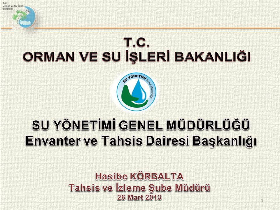 İçme-Kullanma Suyu Sektörü Öneriler Ülkemizde Yağmur suyuyla besleme yapılabilmesi yönünde Su Kanununda izin verilmelidir.