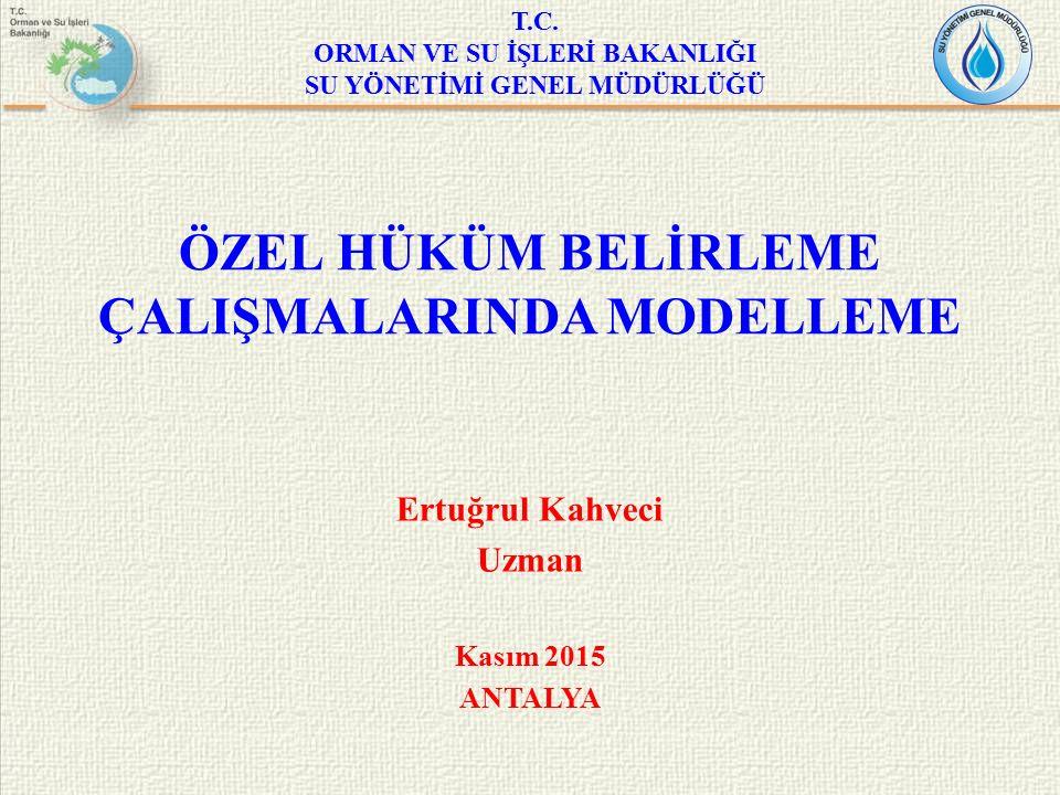 SUNUM İÇERİĞİ – Dünya'da ve Türkiye'de İçme Suyunun Durumu – Türkiye'deki İçme Suyu Koruma Çalışmaları Yasal ve Kurumsal Çerçeve Özel Hüküm Belirleme Çalışmaları – Özel Hüküm Çalışmalarında Modelleme Modelleme ve Raporlama İçin Gereken Veriler Senaryolar