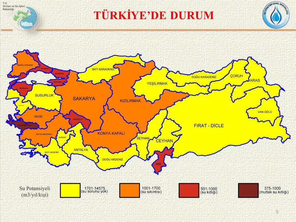 YASAL VE KURUMSAL ÇERÇEVE Su Kaynaklarının Korunması ve Geliştirilmesi İçme Suyu Kaynaklarının Korunması ve Planlanması İçme Suyu Kalitesinin ve Uygun Arıtma Tipinin Belirlenmesi, İzlenmesi Kullanıcıya ulaşan Suyun Kalitesinin İzlenmesi ve Kontrolü Orman ve Su İşleri Bakanlığının Teşkilat ve Görevleri Hakkında Kanun Hükmünde Kararname 2560 sayılı İstanbul Su ve Kanalizasyon İdaresi Genel Müdürlüğü Kuruluş ve Görevleri Hakkında Kanun Su Havzalarının Korunması ve Yönetim Planlarının Hazırlanması Hakkında Yönetmelik Yeraltı Sularının Kirlenmeye ve Bozulmaya Karşı Korunması Hakkında Yönetmelik Su Kirliliği Kontrolü Yönetmeliği Su Kirliliği Kontrolü Yönetmeliği Havzalarda Özel Hüküm Belirleme Çalışmalarına İlişkin Usul ve Esaslar Tebliği İçmesuyu Elde Edilen veya Elde Edilmesi Planlanan Yüzeysel Suların Kalitesine Dair Yönetmelik İnsani Tüketim Amaçlı Sular Hakkında Yönetmelik Orman ve Su İşleri Bakanlığı Büyükşehir Belediyeleri Çevre ve Şehircilik Bakanlığı Orman ve Su İşleri Bakanlığı Sağlık Bakanlığı 6