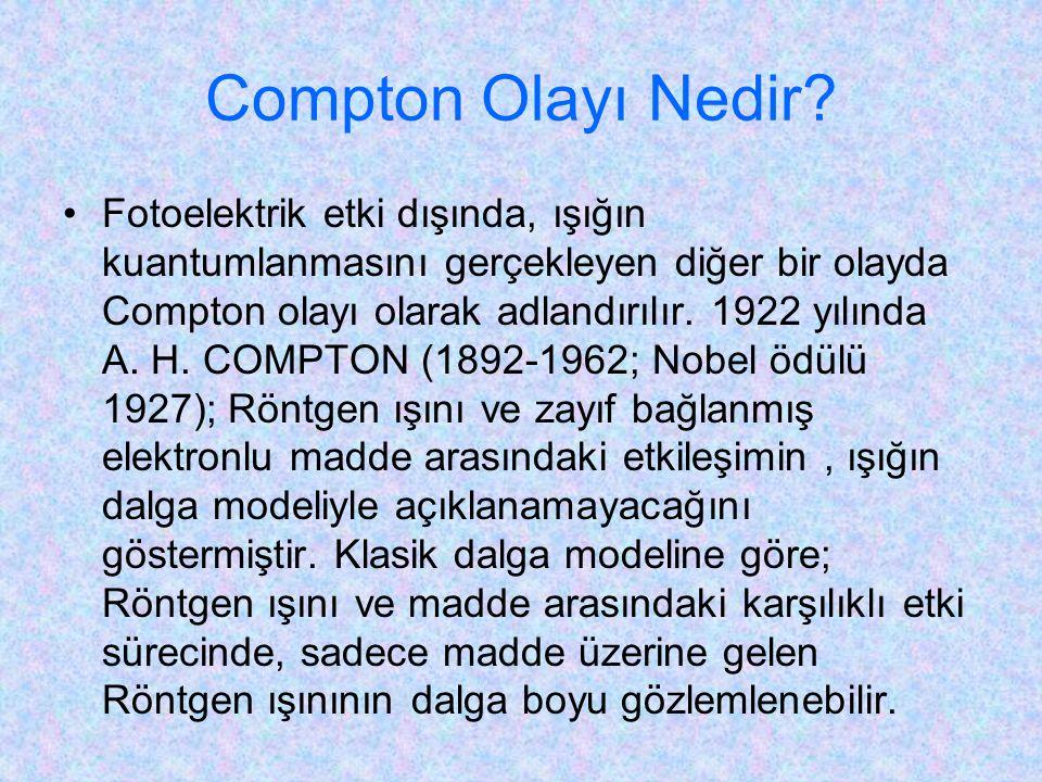 Compton Olayı Nedir.