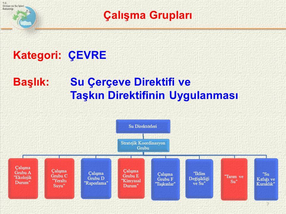 7 Su Direktörleri Stratejik Koordinasyon Grubu Çalışma Grubu A