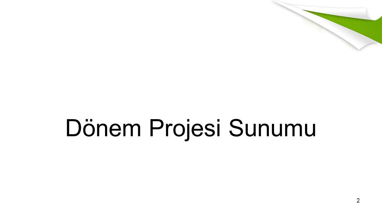 Dönem Projesi Sunumu 2